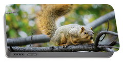Squirrel Crouching On Tree Limb Portable Battery Charger