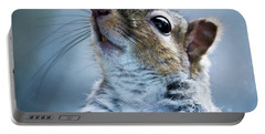 Squirrel With Nose In The Air Portable Battery Charger
