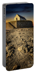 St Cwyfan Church Sunset Portable Battery Charger
