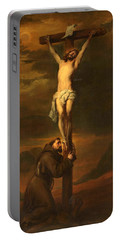 St Francis At The Foot Of The Cross Portable Battery Charger