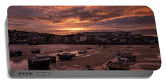 St Ives Cornwall - Harbour Sunset Portable Battery Charger