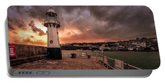 St Ives Cornwall - Lighthouse Sunset Portable Battery Charger