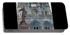 St Joan Of Arc Watch Over Notre Dame Portable Battery Charger