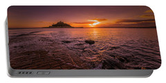 St Michael's Mount - January Sunset Portable Battery Charger