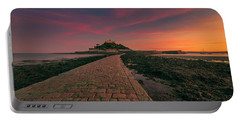 St Michael's Mount Sunset Portable Battery Charger