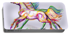 Crayon Bright Horses Portable Battery Charger