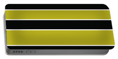 Stacked - Gold, Black And White Portable Battery Charger