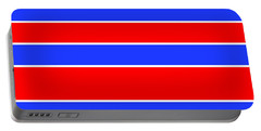 Stacked - Red, White And Blue Portable Battery Charger