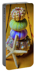 Stacked Sea Urchins And Starfish Portable Battery Charger