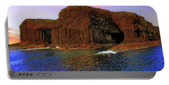 Staffa And Fingal's Cave - Scotland - Sunset Portable Battery Charger