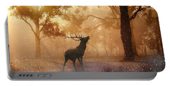 Stag In The Forest Portable Battery Charger
