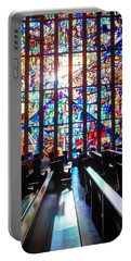 Stained Glass Historical Our Lady Of Czestechowa Shrine Portable Battery Charger