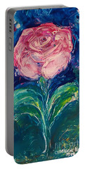 Standing Rose Portable Battery Charger