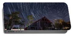 Star Trails Over Bonetti Ranch Portable Battery Charger