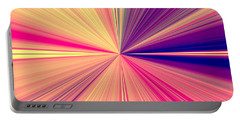 Starburst Light Beams In Abstract Design - Plb457 Portable Battery Charger