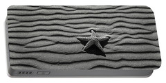 Starfish On Beach Sand Portable Battery Charger