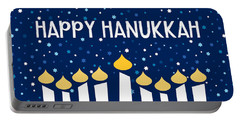 Starry Night Menorah- Art By Linda Woods Portable Battery Charger