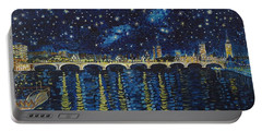 Starry Night Over Thames Portable Battery Charger