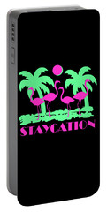 Portable Battery Charger featuring the digital art Staycation by Flippin Sweet Gear
