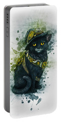 Steampunk Kitty Portable Battery Charger