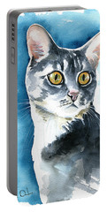 Stella Cat Painting Portable Battery Charger