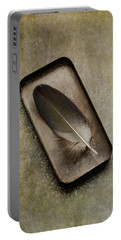 Still Life With Brown Feather Portable Battery Charger