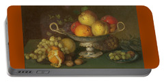 Still Life With Fruit, 1844 Portable Battery Charger