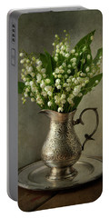 Still Life With Lily Of The Valley Portable Battery Charger