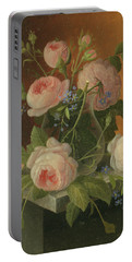 Still Life With Roses, Circa 1860 Portable Battery Charger