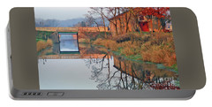 Still Waters On The Canal Portable Battery Charger