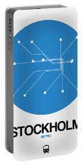 Stockholm Blue Subway Map Portable Battery Charger