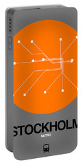 Stockholm Orange Subway Map Portable Battery Charger
