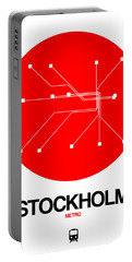 Stockholm Red Subway Map Portable Battery Charger