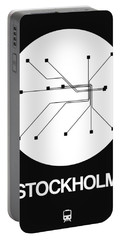 Stockholm White Subway Map Portable Battery Charger