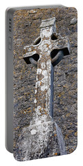 Stone Celtic Cross Portable Battery Charger