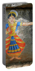 Stone Painting Of Nautch Dancing Gir Portable Battery Charger