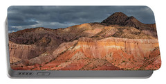 Storm Above Ghost Ranch Mountains Portable Battery Charger