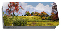 Portable Battery Charger featuring the photograph Storm Clouds Over Country Landscape by Christina Rollo