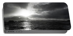 stormy coastline in northern Norway Portable Battery Charger