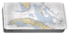 Straits Of Florida Nautical Chart Portable Battery Charger