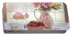 Strawberry Breakfast Portable Battery Charger