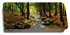 Portable Battery Charger featuring the photograph Stream Rages Horizontal Format by Raymond Salani III