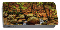 Portable Battery Charger featuring the photograph Stream Rages In Ma by Raymond Salani III