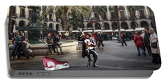 Street Music. Guitar. Barcelona, Plaza Real. Portable Battery Charger