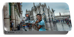 Street Music. Violin. Portable Battery Charger