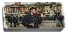 Street Music. Violin. Trafalgar Square. Portable Battery Charger