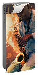 Street Sax Player Portable Battery Charger