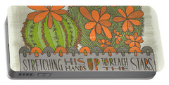 Stretching His Hands Up To Reach The Stars Too Often Man Forgets The Flowers At His Feet Jeremy Bent Portable Battery Charger