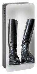 Studio. Riding Boots. Portable Battery Charger