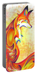 Stylized Fox I Portable Battery Charger